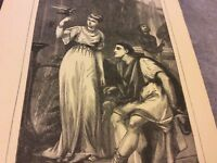 Antique Book Print - Domestic Life in Pompeii - 1900