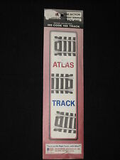 "Atlas # 840 Ho Scale 9"" Straight Terminal Track Section, Nickel Silver Code 100"