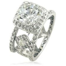Ring Setting, 2.5Ct in 14K White Round Brilliant Diamond Halo Ladies Right Hand