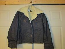 NOS VTG Roebucks 1970's ? DENIM SHERPA Coat 38 DEADSTOCK jacket Sears ROCKABILLY