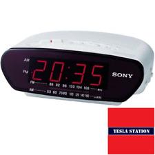 Sony ICF-C211 máquina de ensueño Despertador FM/AM Radio. rara Y artículo Retro Blanco.