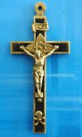 #3058# Vintage/ Médaille Croix religieuse/ Insigne pendentif. Insigne Chrétien