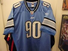 Vintage Detroit Lions # 90 Suh Football Jersey Size Man 52 By Authentic Reebok