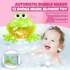 Fun children bath toys bath bubble machine music frog automatic bubble machine