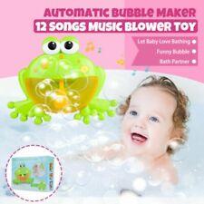 Summer Fun Kids Bath ToyS hower Bubble Maker Music Frog Automatic Bubble Machine