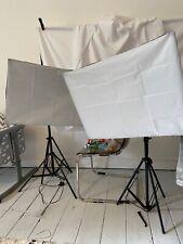 ESDDI Softbox Studio Lights 800w x2, White backdrop, Clamps & NEEWER stand