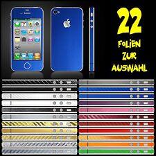 IPHONE 4S FOLIE BLAU MATT ( BUMPER COVER HÜLLE SCHALE CASE TASCHE )