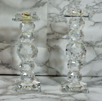 "Swarovski Candle Holder 6"" Tall Hole Style7600 NR 110"