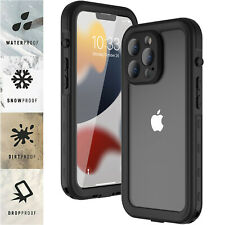 For iPhone 13/Pro Max/Mini Waterproof Clear Case Shockproof W/ Screen Protector