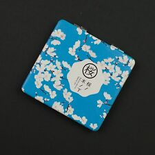 Slim square folding double sided compact mirror with Sakura (cherry blossoms)