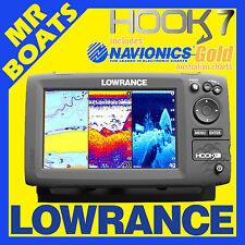LOWRANCE HOOK 7 ✱ NAVIONICS GOLD CARD ✱ Chartplotter Fishfinder Chirp COMBO NEW