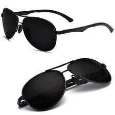 Herren Polarisiert Sonnenbrille Aviator Brillen Herr UV400 Pilotenbrille Schwarz