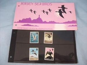 Jersey 'Sea Birds', Stamp presentation pack issued 28 July 1975, 4 mint stamps