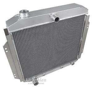 1957 1958 1959 1960 Ford f100 Pickup Four Row Aluminum Radiator