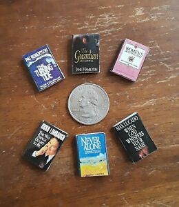 Dollhouse Miniatures Lot of 6 Christian Books ~ New ~ 1:12 Scale Vintage & OOAK