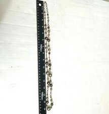 Champagne Beaded Necklace Faceted Pearl Style Open Chain 32 Inch