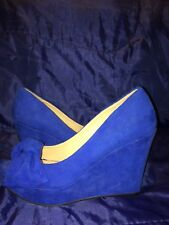 LADIES MID HEEL CASUAL SMART WORK PUMP COURT SHOES SIZE 4