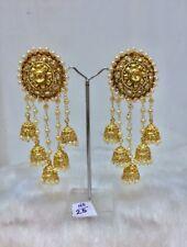 New Indian Wedding Bridal Fashion Gold Plated Jewelry Earrings Jhumki Set