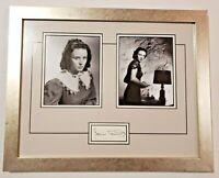 Hollywood Oscar Winner Jessica Tandy Photos & Signature Framed Mid Century Art