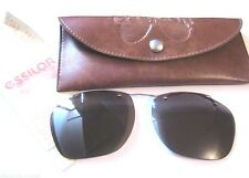 French Essilor 1960s Men Clip-On Sunglasses & Orma Lenses~ Gold Plated ~New& Box
