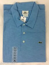 Lacoste Men's Polo Shirt Regular Fit Naval Baby Light Blue Size EU 5 US M