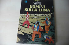 """TINTIN di HERGE'""""UOMINI SULLA LUNA-fumetto cartonato GANDUS -FUM2"""