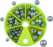 Kugelblei-Sortiment in 6 Sorten Spenderdose mit 1 bis 7 Gramm mittig gelocht