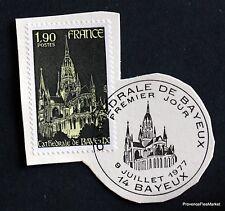 TIMBRE FRANCE OBL. 1° JOUR  Yt 1939 CATHEDRALE DE BAYEUX