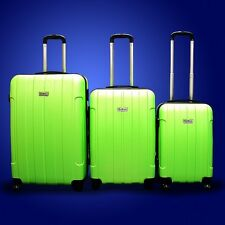 New DeBox 3PCS Luggage Travel Set Bag 3 PCS ABS Trolley Suitcase w/ Lock Green
