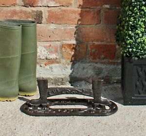 Ornate Cast Iron Dirty Muddy Boots Wellies Scraper Shoes Cleaner