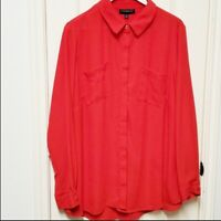 Lane Bryant Red Blouse Size 18/20