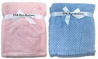 Soft Waffle Baby Blanket  Pram Crib Moses Basket For Girls & Boys of  0+ Months