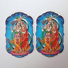 Aufkleber Sticker 2x RADHA-KRISHNA Indien Goa Hippie God-Stickers India 50