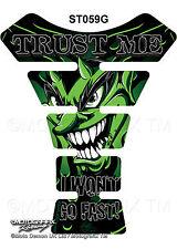 Green Devil Demon Lucifer Motorcycle Tank Pad Tankpad Motografix Gel Protector