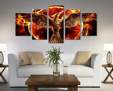 Modern Abstract Oil Painting Wall Decor Art Huge -  Golden fly Phoenix beauty