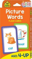 Alphabet Picture Flash Cards First Words Learning Baby Child Card Letters Learn