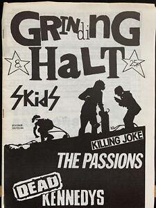 Grinding Halt Punk Fanzine 1980 #8 The Skids Killing Joke Passions Dead Kennedys