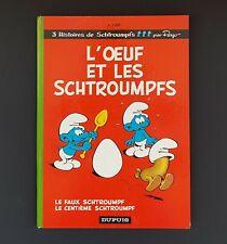 ALBUM BD EO L'OEUF ET LES SCHTROUMPFS DUPUIS 1968 TRES BON ETAT