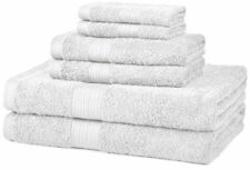 Bath Towel 6 Piece Set Bathroom Towels 100% Egyptian Cotton Luxurious 7 Colors