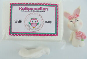 Weiß Kaltporzellan Lufttrocknend Modelliermasse Coldporcelain Porcelana Fria 150