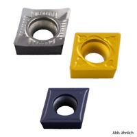 10 Stück Wendeplatten Form CCGT / CCMT alle Größen für Aluminium Stahl Niro NEU