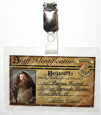 Rubeus Hagrid ID Badge Harry Potter Staff Hogwarts Wizard Cosplay Prop Comic Con
