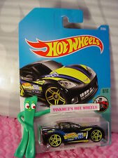 2005 CORVETTE C6 #77☆Black;blue/yellow;pr5;☆TOONED☆2017 i Hot Wheels case D/E