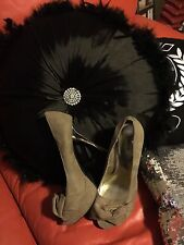 GORGEOUS BETTS DESIGNER SUEDE WITH GOLD HIGH HEEL WOMENS SHOES SIZE 8