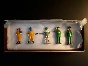 Dan Dare Miniatures Set Of 5 Figures Very Good Condition
