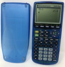 Texas Instruments TI-83 Plus Graphing Calculator Transparent Clear Blue Tested