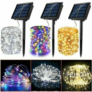 100-300 LED Solar Power String Fairy Lights Garden Outdoor Party Lamp Waterproof