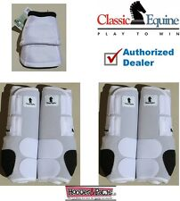 LARGE White CLASSIC EQUINE Front Rear Legacy Horse Sports Leg No Turn Bell Boots
