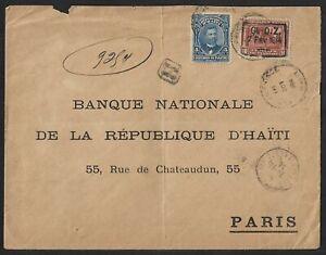 HAITI TO FRANCE REGISTERED COVER 1904