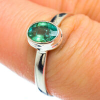 Zambian Emerald 925 Sterling Silver Ring Size 8.25 Ana Co Jewelry R49232F
